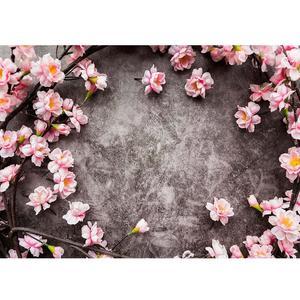 Image 1 - สีชมพูดอกไม้สีเทาWall Photoพื้นหลังผ้าไวนิลPhotoboothฉากหลังสำหรับเด็กคนรักPhotocallการถ่ายภาพProps