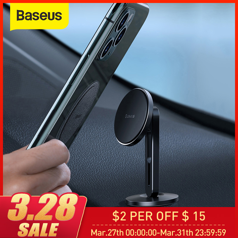 Baseus Magnetic Car Phone Holder For IPhone XS 11 Samsung With Clamping Function Paste Type Car Mount  Stand Phone Magnet Holder