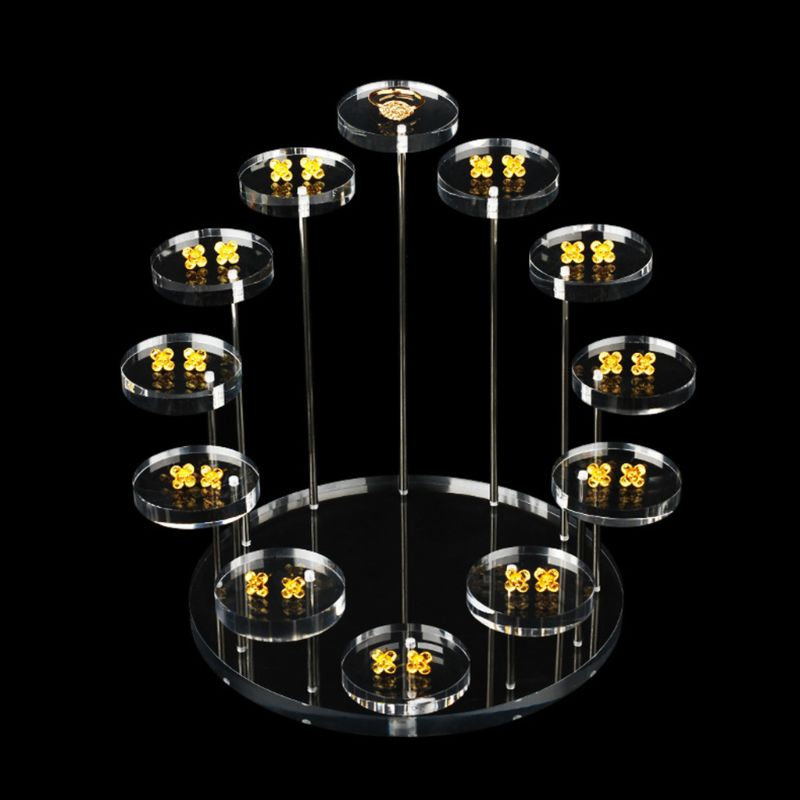 Acrylic Ring Display Stand Earrings Show Support Jewelry Counter Showcase Props Holder Tray in Jewelry Packaging Display from Jewelry Accessories