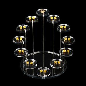 Image 5 - אקריליק טבעת דוכן תצוגת עגילי להראות תמיכה תכשיטי דלפק Props Showcase מחזיק מגש