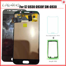 Test new LCD For Samsung Galaxy S7 G930 G930F G930A G930P G930V Display Touch Screen Digitizer Assembly LCD gold lcd display screen touch digitizer replacement for samsung galaxy s7 sm g930 g930f g930a g930v g930p g930t g930r4 g930w8