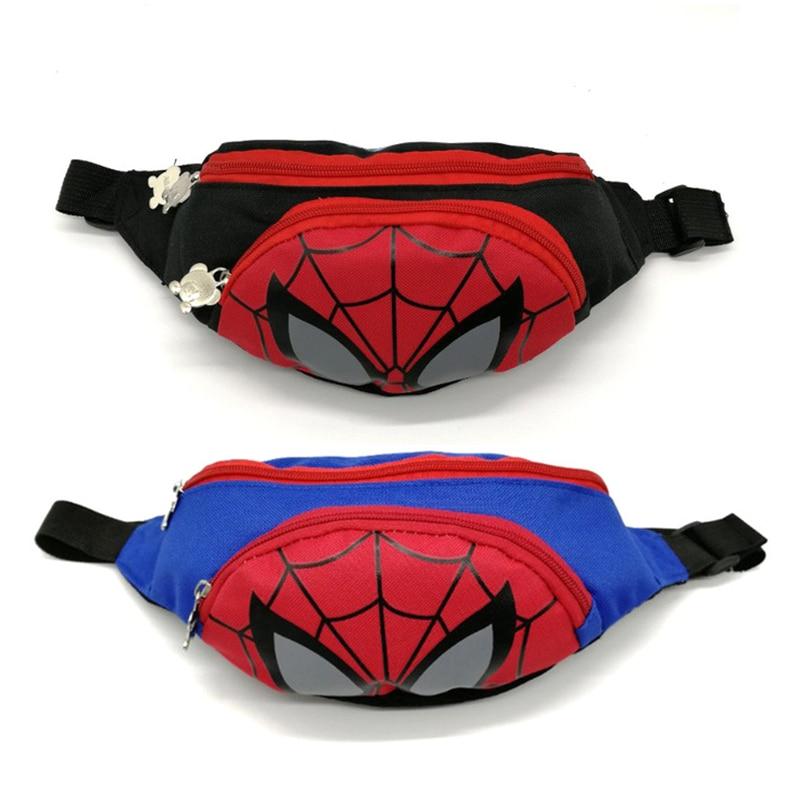 New Boy And Girl Fanny Pack Trend Waist Bags For Kids Minnie Kids Fanny Pack Spiderman Adjustable Banana Bag Shoulder Kidney Bag