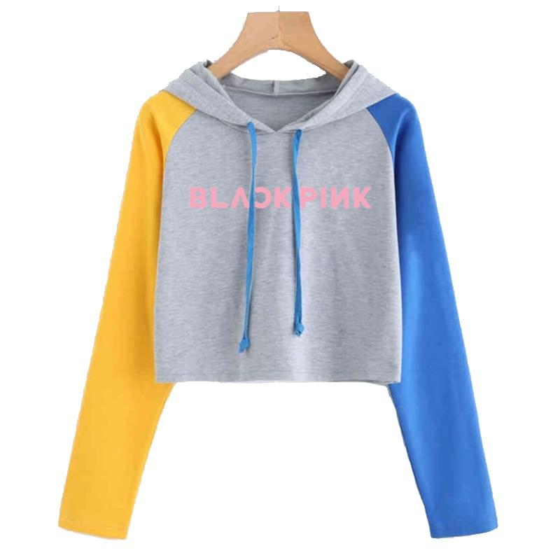 Newest Blackpink Fashion Hoodies For Women Stray Kids Nct 127 Got7 Seventeen Monsta X Wanna One Twice Idol Sweatshirt Female Hoodies & Sweatshirts     - title=