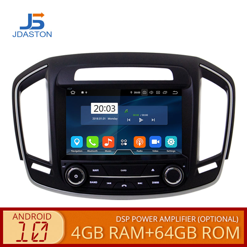 JDASTON Android 10 Car DVD Player For Opel Vauxhall Insignia 2014 2015 2016-2018 WIFI Multimedia GPS Stereo 2 Din Car Radio IPS