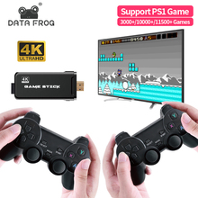 Data Frog Retro Video Game Console With 2.4G Wireless Gamepads 10000+ Games For HDMI Family TV Game Console For PS1/SNES