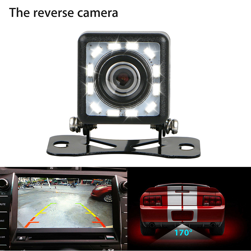 Auto Achteruitrijcamera Backup Camera Parking Reverse Back Up Camera Waterdicht Cmos 12LED enlarge