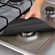 4 шт многоразовая фольгированная газовая плита диапазон плита защита горелок вкладыш Крышка для инструменты для уборки на кухне Горячая кухонные инструменты