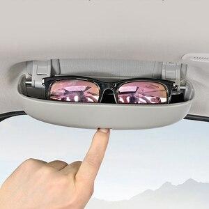 Image 2 - Xburstcar Auto Auto Gläser Halter für BMW 7 Serie G11 G12 720 730 740 750 760 2016   2021 Gläser fall Sonnenbrille Lagerung Box