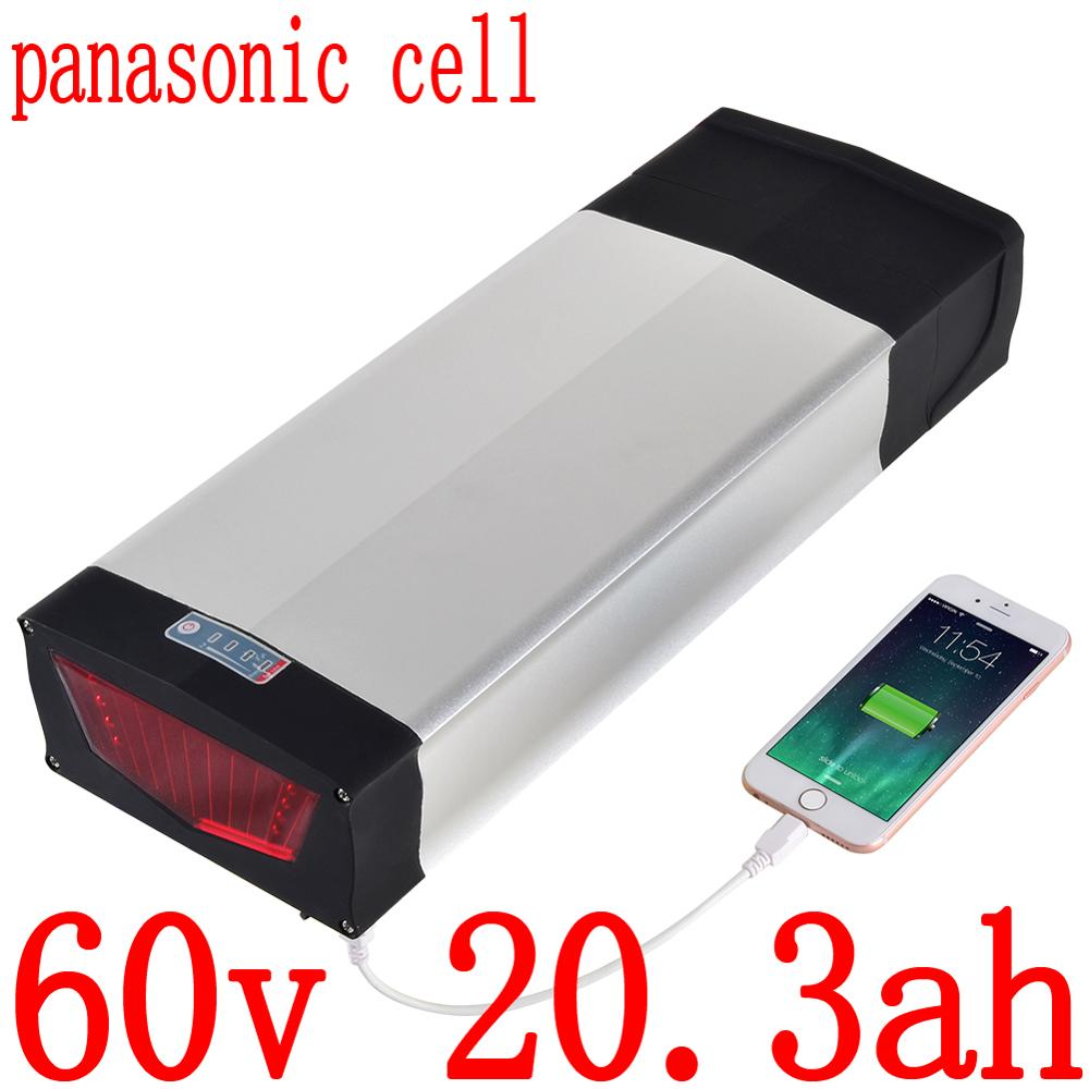 60V 1500W 2000W Electric Scooter Battery 60V 20AH Electric Bicycle Battery 60V 15AH 17AH 20AH Lithium Battery use panasonic cell|Electric Bicycle Battery| |  - title=