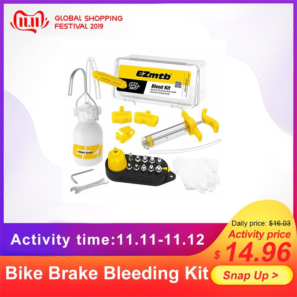 Bike Hydraulic Disc Brake Bleed Tool Bleeder Kit MTB Road Bike Brake Bleeding Kit Bike Mineral Oil Fluid Set Metal Adapter