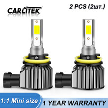 Carlitek H7 H4 LED H11 samochodów samochodów reflektor H8 9005 HB3 Foglamp żarówki 9006 hb4 Hi/lo wiązka 12V 6000K 8000K 76W 9000LM 2 sztuk