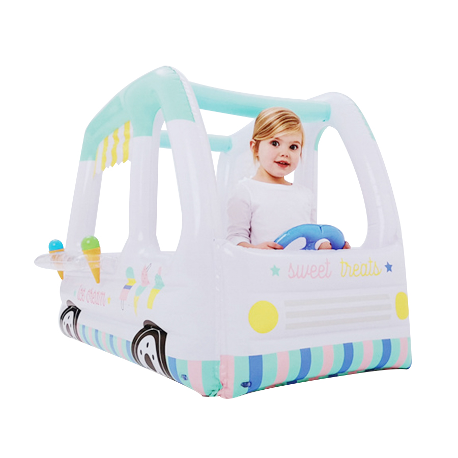 Baby Square Inflatable Ice Cream Car Toy Baby Sand Pool Children's PVC Indoor Ocean Ball Pool Inflatable Toys