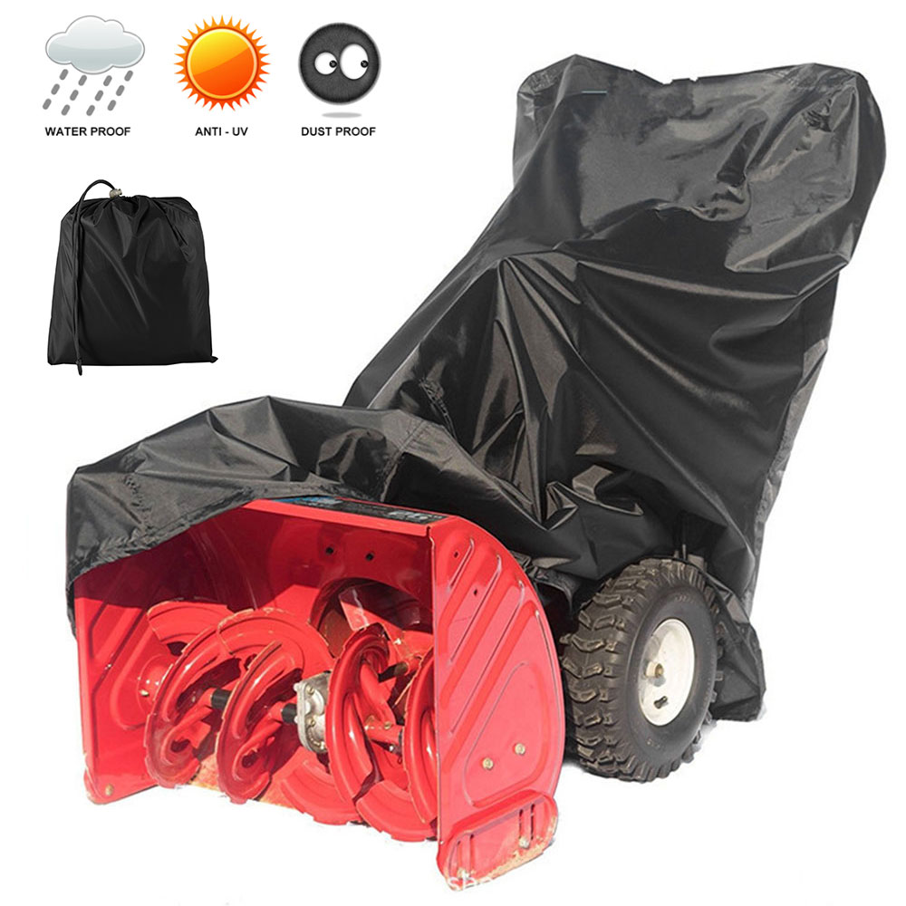 Snow Thrower Cover Windproof Waterproof Snow Blowers Covers Shield UV Resistant Snowblower Furniture Rain Snow Chair Cover