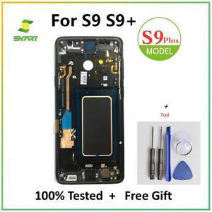 Оригинальный AMOLED дисплей для Samsung Galaxy S9 Plus, дигитайзер сенсорного экрана в сборе для Galaxy G960 G960F G965 G965F OLED экран