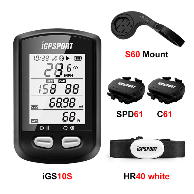 IGPSPORT iGS10S GPS ANT Bike Computer Stopwatch Cycling Computer+Bicycle Mount