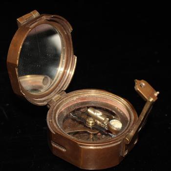 Exquisite copper compass ornament
