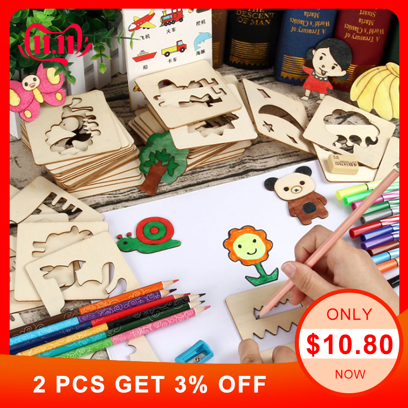 100Pcs Baby Toys Drawing Toys Coloring Board Children Creative Doodles Early Learning Education Toy Boys Girl Learn Drawing Tool