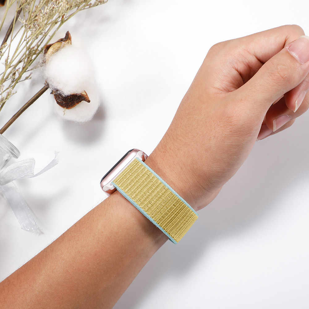 Sport Loop pasek z nylonu dla apple watch 4 apple watch 5 zespół correa pasek do iwatch 44mm 40mm 38mm 42mm apple watch series 4 3 2 1