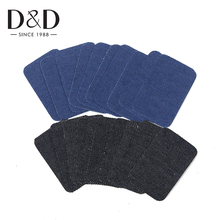10pcs/lot Iron-on Patches Elbow Knee Repair Jeans Patches Sewing Applique Patches for Clothes DIY Stickers Sewing Accessories