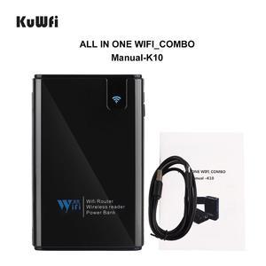 Image 4 - KuWFi 무선 데이터 공유 전원 은행 여행 라우터, 무선 SD 카드 리더 아이폰 ipad에 휴대용 SSD 하드 드라이브를 연결