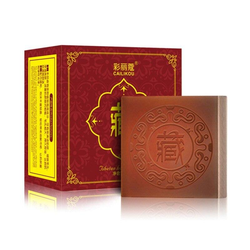 Tibetan Handmade Soap Moisturizing Oil-control Shrinking Pores Anti Mites Anti Acne Cleansing Soap