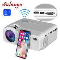 Salange P40W Mini Projector for iPhone Wireless Sync Display For Smart Phone Android Mobile Phone Home Theater with HDMI VGA