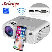 Salange P40W Mini projektor dla iphonea, wyświetlacz synchronizacji bezprzewodowej dla smartfona Android telefon komórkowy, kino domowe z HDMI,VGA