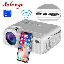 Мини проектор Salange P40W для iPhone, беспроводной синхронизационный дисплей для смартфона, Android мобильный телефон, домашний кинотеатр с HDMI,VGA