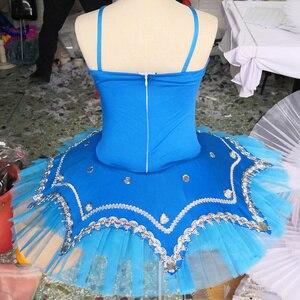 Image 4 - Ballet professionnel Tutu crêpe enfants blanc cygne lac Ballet Costume KidsGirls plume Ballerine Tutu jupes