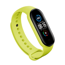 цена на For MI Band 5 Silicone Watch Band Wristband Replacement Strap For Xiaomi 5 Smart BraceletAccessories