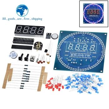 DS1302 obracanie Alarm z wyświetlaczem LED zegar elektroniczny moduł DIY zestaw wyświetlacz LED temperatury dla arduino tanie i dobre opinie CN (pochodzenie) Nowy Układy scalone logiczne DS1302 Rotating LED Display budzik -40-+85