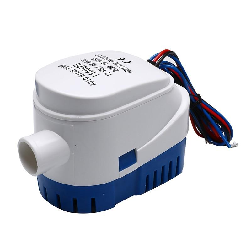 플로트 스위치와 잠수정 자동 펌프에 대 한 자동 빌지 워터 펌프 12V/24V 750GPH/1100GPH 바다 보트 해양 미끼 탱크 물고기펌프   -