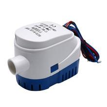 Pompe à eau automatique avec interrupteur flottant, pour bateau de mer, réservoir, poissons, 12V/24V, 750gph/1100gph