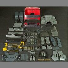 Zabawki zdalnie sterowane modele samochodów Body Shell zestawy kabiny nadające się do 1/14 skala zdalnego sterowania zabawkowa ciężarówka Tamiya przyczepa do ciągnika Scania Benz MAN Volvo