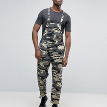 CYSINCOS Mens Fashion Jeans Jumpsuit Casual Camouflage Printed Jumpsuits Overalls Military Tracksuit Camo Suspender Pants