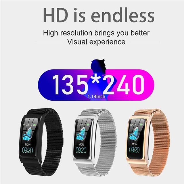 Smart Bracelet AK12 Color Screen Rechargeable Heart Rate Monitor Smart Watch IP67 Waterproof Bluetooth-Compatible Sports Watch 3