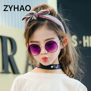Kids Sunglasses Oculos Round Metal Girls Baby Boys High-Quality Child Luxury