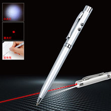 Multifunction metal rollerball caneta led papelaria esferográfica infravermelho 1.0mm preto recarga preto publicidade produtos