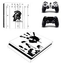Kojima gra Death Stranding naklejka na kontroler do PS4 naklejka naklejka Vinyl na konsolę Playstation 4 i kontrolery naklejka na kontroler do PS4 naklejka