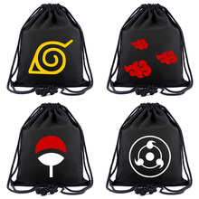 Anime Naruto Canvas Bag Japanese Animation Drawstring Backpack for Students Boys Girls Cloth Bags Portable Organizer Backpacks anime natsume yuujinchou cosplay 2017 new animation canvas bag casual backpack korean fashion students