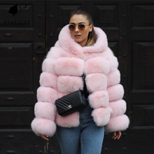 New Whole Skin Natural Real Fox Fur Short Paragraph Coats Handmade Clothing Thick Warm High Quality Customized FC-055