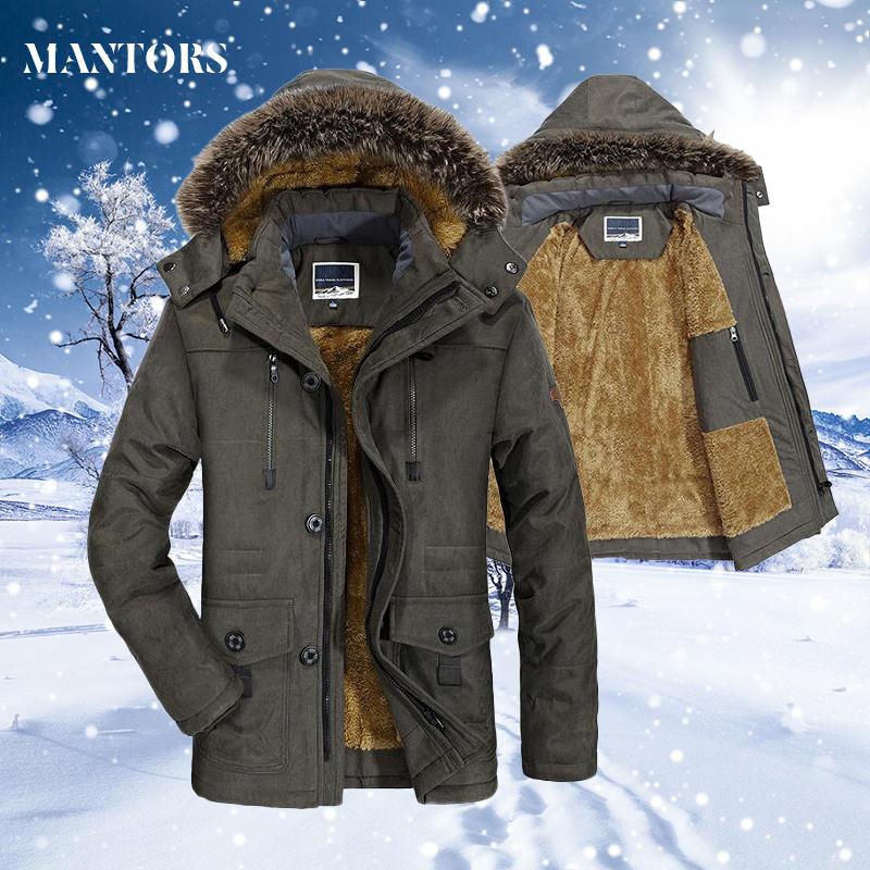 Velvet Coat Jacket Outwear Parkas Hooded Warm Male 7XL Plus-Size Men's Winter Men Casual