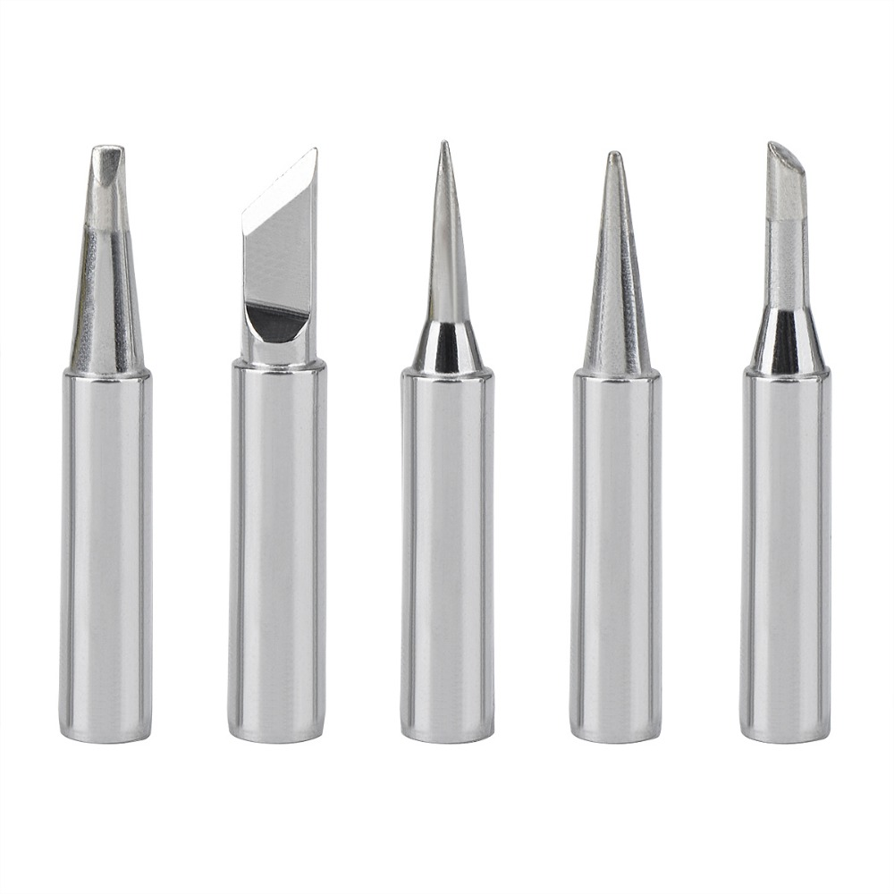 5pcs Soldering Iron Kit  New Lead Free Soldering Iron Tips Replacement For Soldering Repair Station 908 908S  Weller