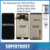 С закаленным стеклом для Samsung Galaxy J4 + 2018 J4 Plus J415 J415F J410 J6 Plus 2018 J610 J400 J4 2018 ЖК-дисплей с сенсорным экраном