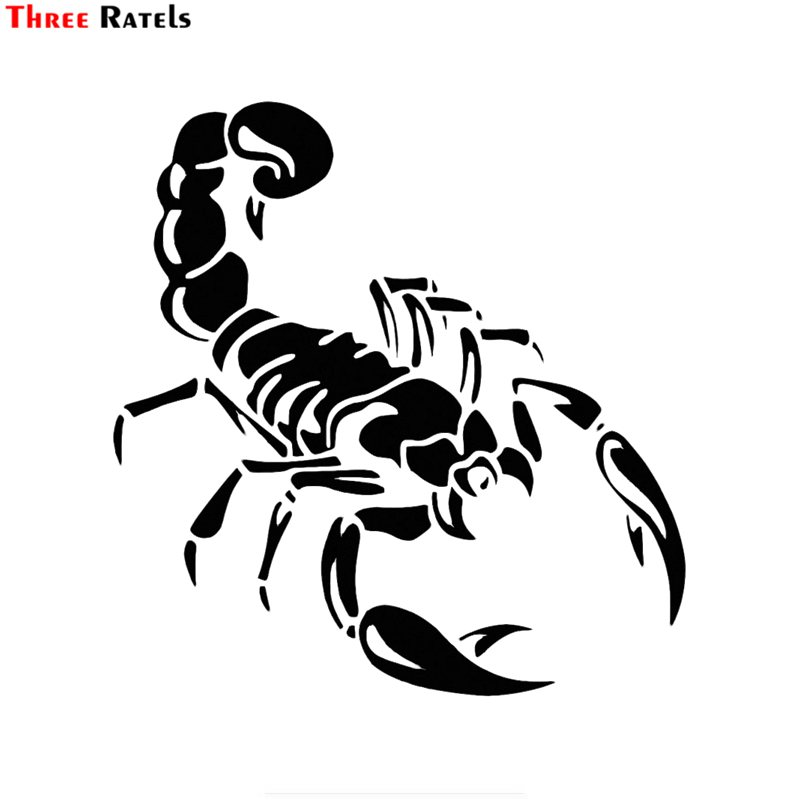 Three Ratels FTZ-83# 15*15.5CM Cute 3D Scorpion Car Stickers Car Styling Vinyl Decal Sticker For Cars Acessories Decoration