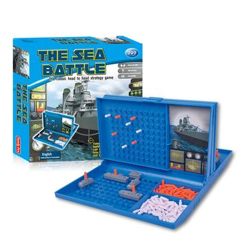 Educational Classic Battleship Game Strategy Board Game Sea Battle Toy Retro Series Toys For Children Adult image