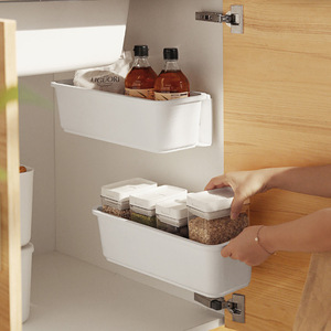 Push and Pull Storage Basket Boxes Plastic Kitchen Sink Drawer Organizer Closet Rack Finishing Container Home Accessrioes
