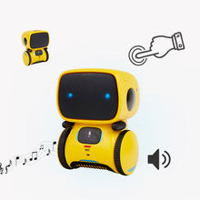 Kid Intelligent Robot Toys Voice Command Dance Sing Repeating Recorder Touch Control Toys Interactive Robot Cute Toy Gifts(China)