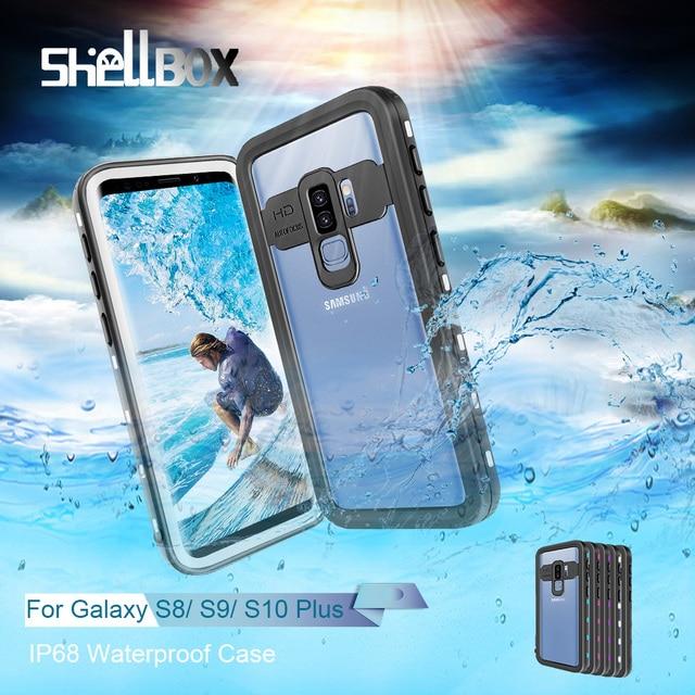 IP68 حافظة هاتف ضد الماء لهواتف سامسونج نوت 20 10 9 حافظة حماية 360 لهاتف جالاكسي S20 الترا S9 S10 بلس حافظة مضادة للماء