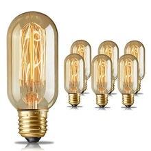 Античная трубчатый светильник 40w e27 t45 Ретро диммируемая